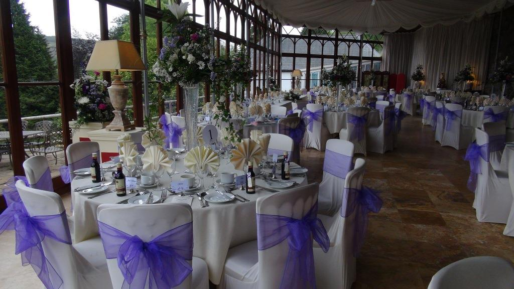A wedding in Wales in the Craig Y Nos Castle Conservatory
